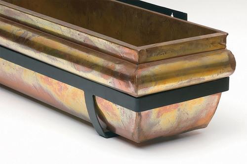 """Rustic Copper Window Box Planter 36"""""""