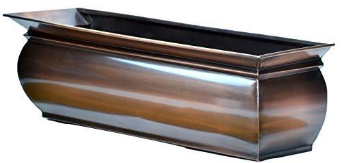 """Copper Window Box Patio Deck Flower Garden Planter 36"""""""