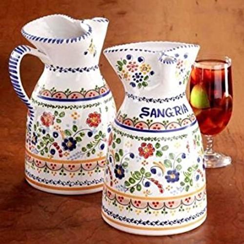 """Sangria Pitcher 7.5""""  w/ Recipe - many styles, sizes"""