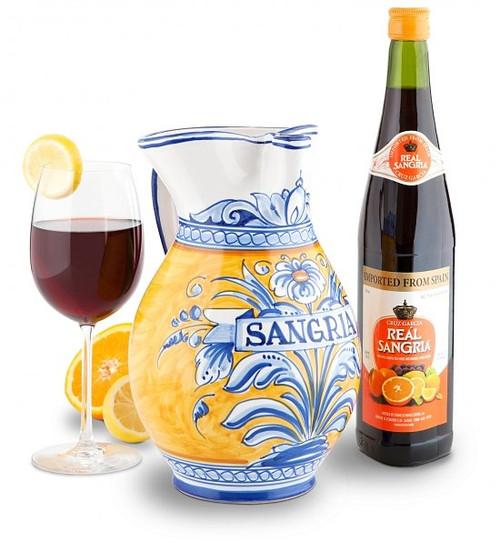 """Sangria Pitcher 11""""  w/ Recipe - many styles, sizes"""