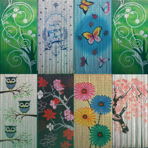 Whimsical Bamboo Beaded Curtain - choose from many styles