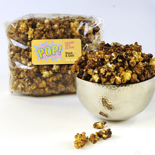 Big Bag Black Gold Caramel Corn Saints New Orleans Gourmet Popcorn