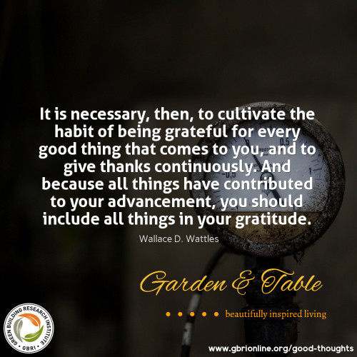 It is necessary to cultivate the habit of being grateful.... #Quotes