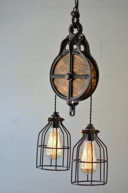Barn Pulley Industrial Pendant Chandelier Light
