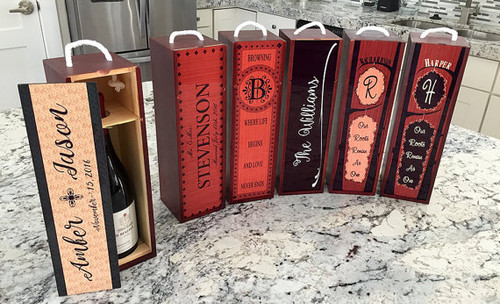 Personalized Decorative Wine Case - choose from designs