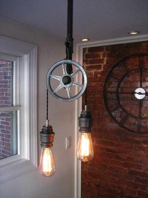 Barn Pulley Industrial Pendant Chandelier Lights