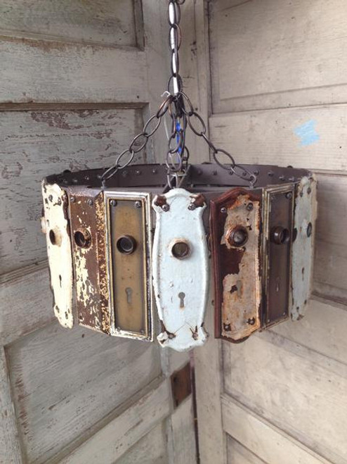 Antique Key Plate Pendant Light Chandelier