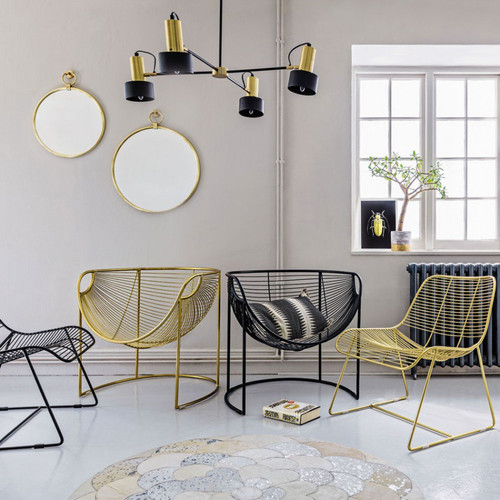 Mulberry Leaf Lounger In Gold or Black