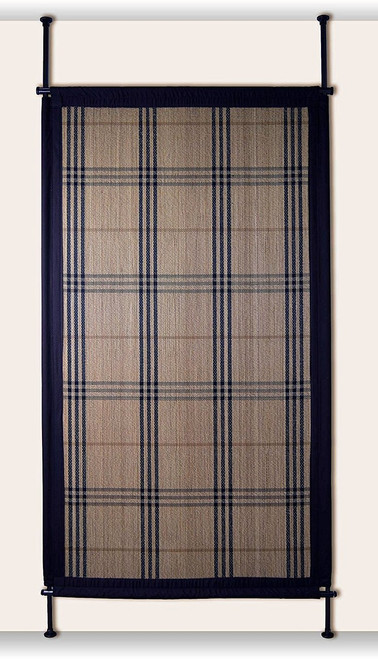 Bamboo Hanging Room Divider Panel - in Tan/Espresso
