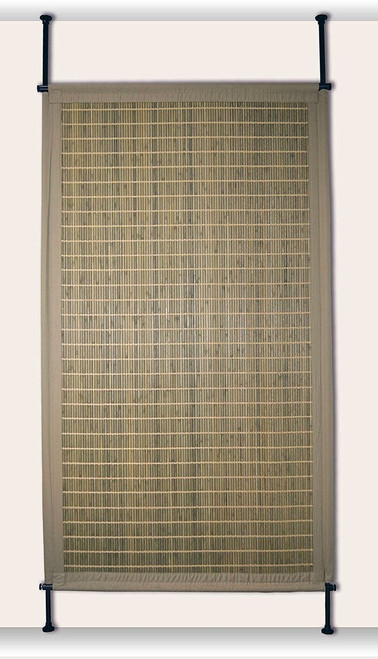 Bamboo Hanging Room Divider Panel - in Driftwood