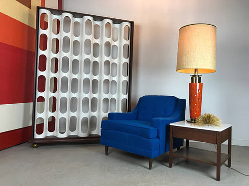 Modern Screen Style Rolling Room Divider