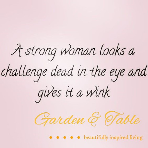 A strong woman looks a challenge .... #Quotes