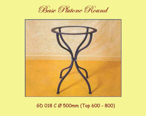 Plutone Wrought Iron Table Base - multiple sizes available