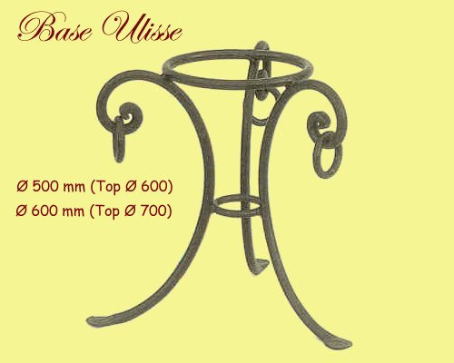 Ulisse Wrought Iron Table Base - multiple sizes available
