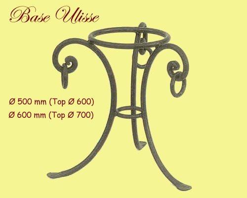 Ulisse Wrought Iron Table Base - multiple sizes available
