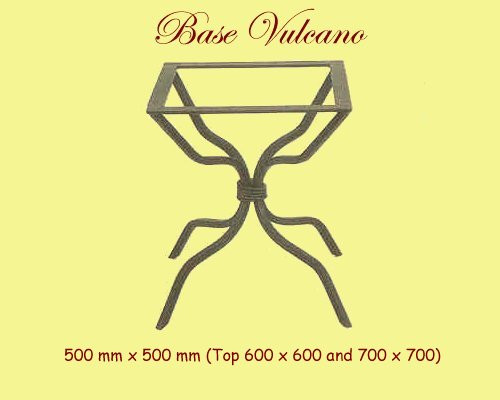 Vulcano Wrought Iron Table Base - multiple sizes available