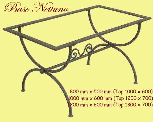 Nettuno Rectangular Wrought Iron Table Base - multiple sizes available