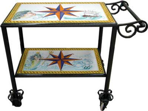 Italian Ceramic Serving Cart - Custom designs