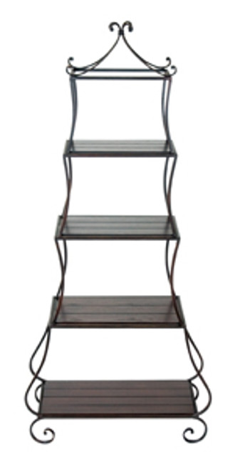 Iron 4 Tier Graduated Shelf