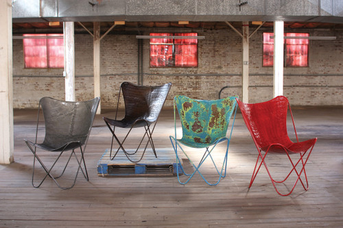 IRON BUTTERFLY CHAIR - VINTAGE BLUE - other colors available