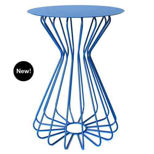 Ribbon Accent Table - Tall - White, Turquoise or Black