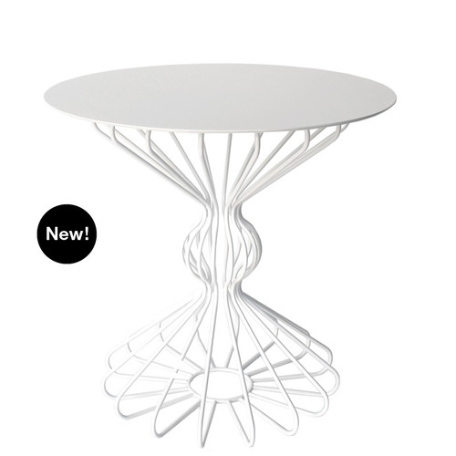Ribbon Accent Table - Medium - White or Turquoise