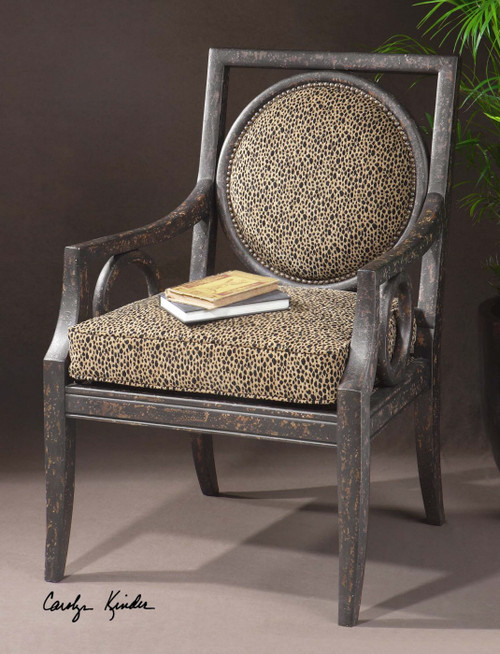 Channing Leopard Armchair