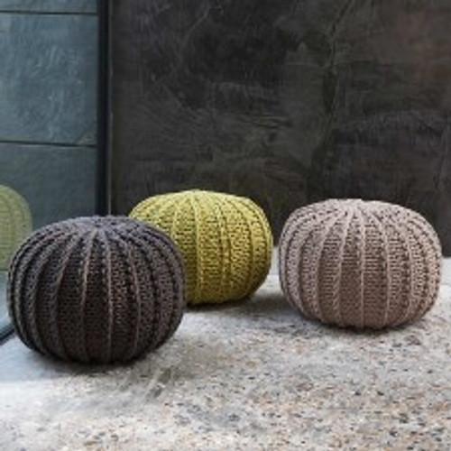 Ursula Cable Knit Pouffes