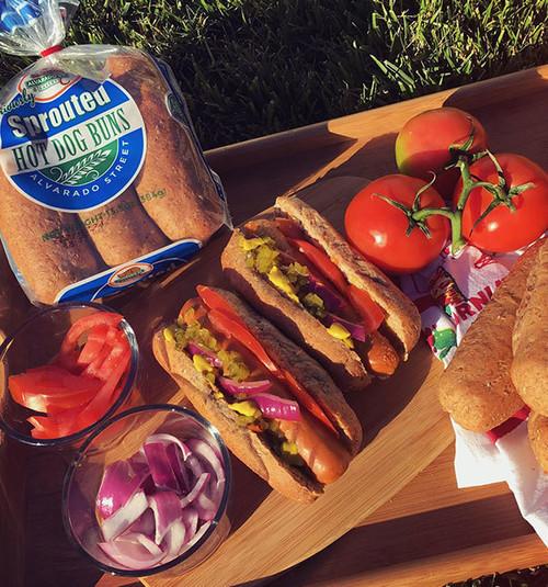 Sprouted Hot Dog Buns - Alvarado Street Bakery