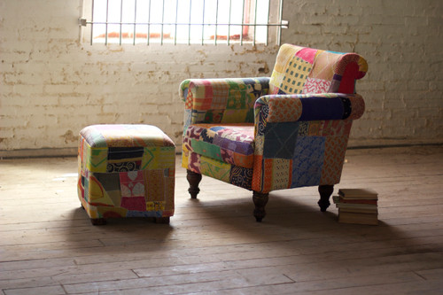 Remnant Vintage Fabric Patchwork Chair
