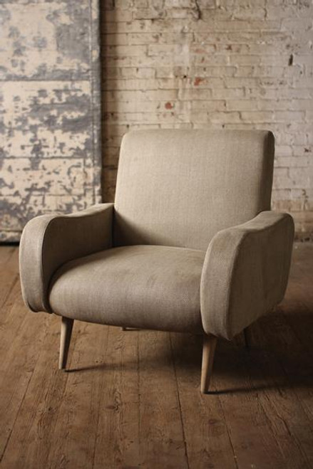 Herringbone Fabric Upholstered Arm Chair
