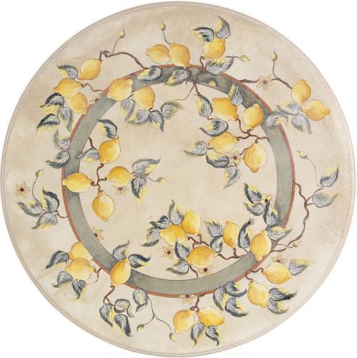 "31"" Lemonatta Lava Table w/ Plutone Wrought Iron Base"