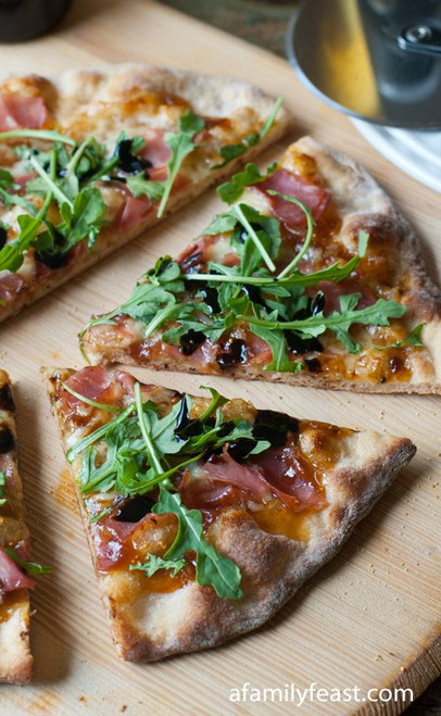 Prosciutto and Fig Pizza with Arugula - (Free Recipe below)