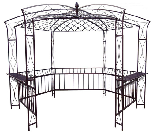 Pavillion Wrought Iron Gazebo - custom sizes, styles available