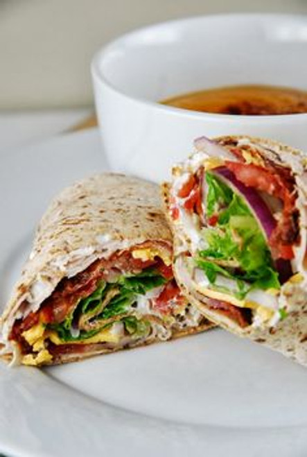 Turkey Bacon Ranch Wrap - (Free Recipe below)