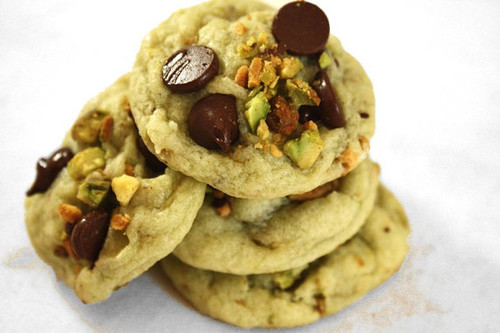 Soft Pistachio Chocolate Chip Cookies - 2 Dozen