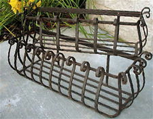 "Custom 60"" Wrought Iron Window Planter"