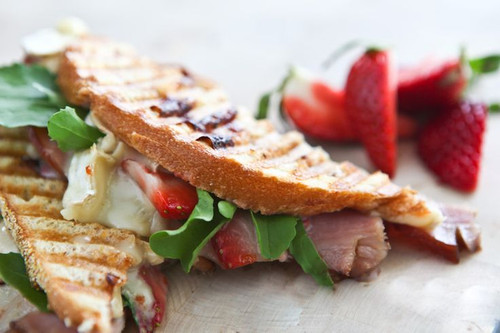 Strawberry Ham Brie Panini - (Free Recipe below)