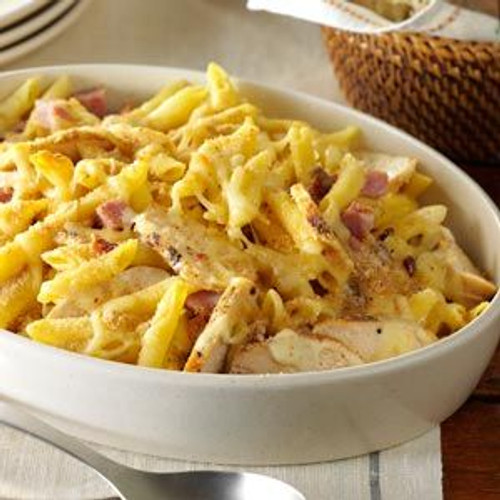 Chicken Cordon Bleu Pasta - (Free Recipe below)