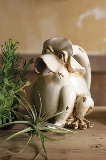 Ceramic Frog Watering Pitcher