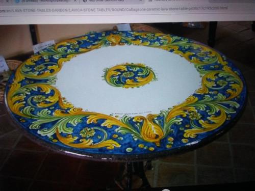 "Custom 46"" Italian Tabletop - ""Fava"" Family Name"
