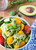 AVOCADO PESTO PASTA SALAD WITH ROASTED SUMMER VEGETABLES - (Free Recipe below)