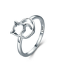 Silver Cat Ring