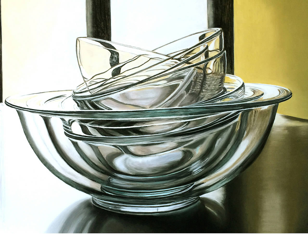 8 or 9 Glass Bowls