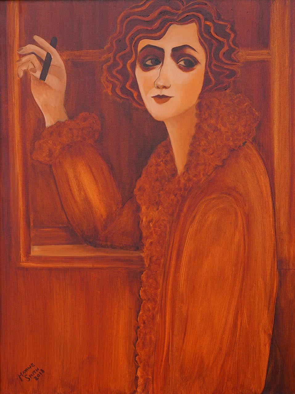 Woman in Fur Trimmed Coat