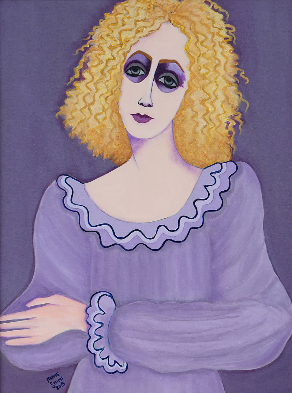 Woman in Peasant Blouse