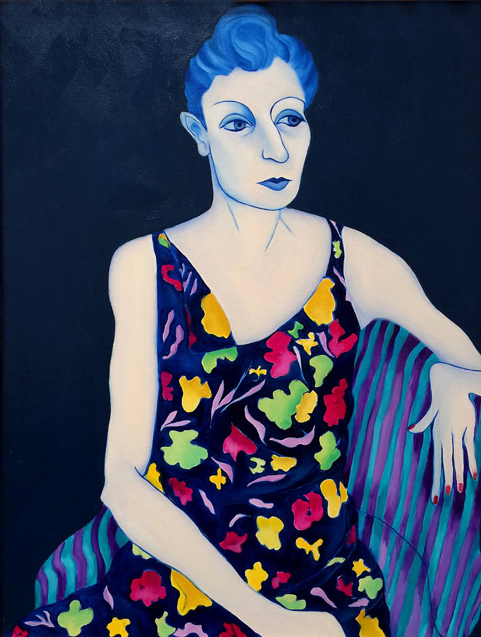 Woman in Flowered Dress