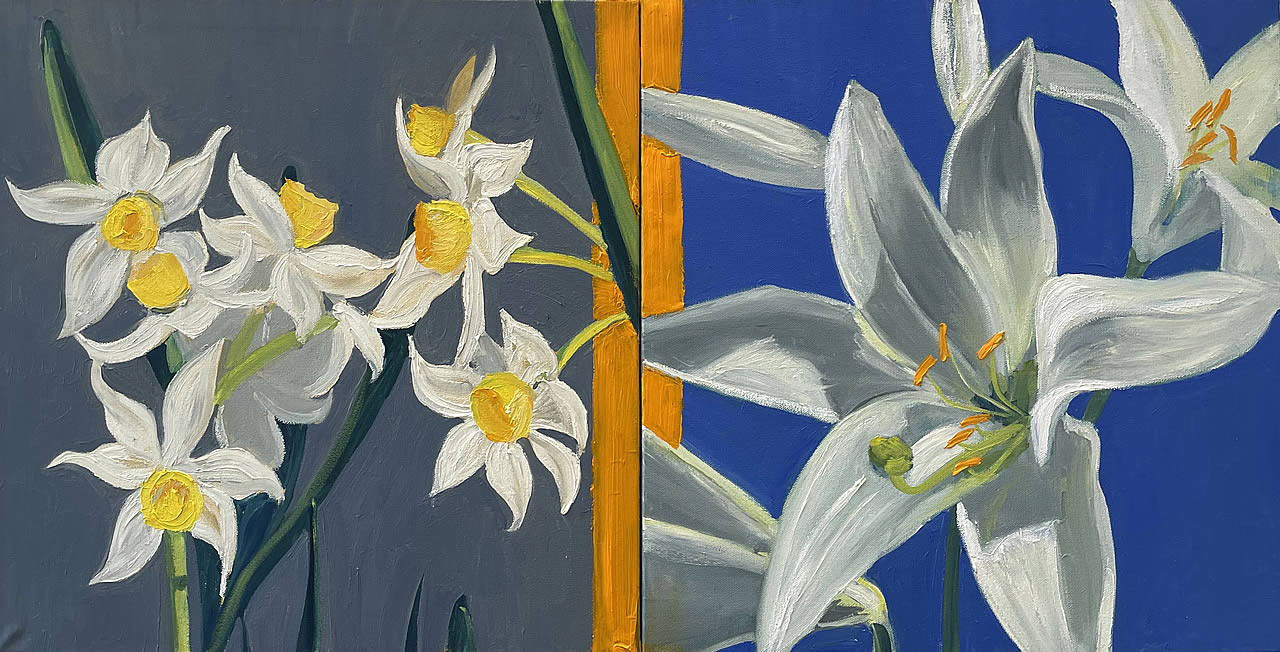 Daffodils and Lilies