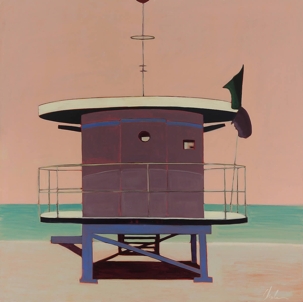 Lifeguard Station Lavender