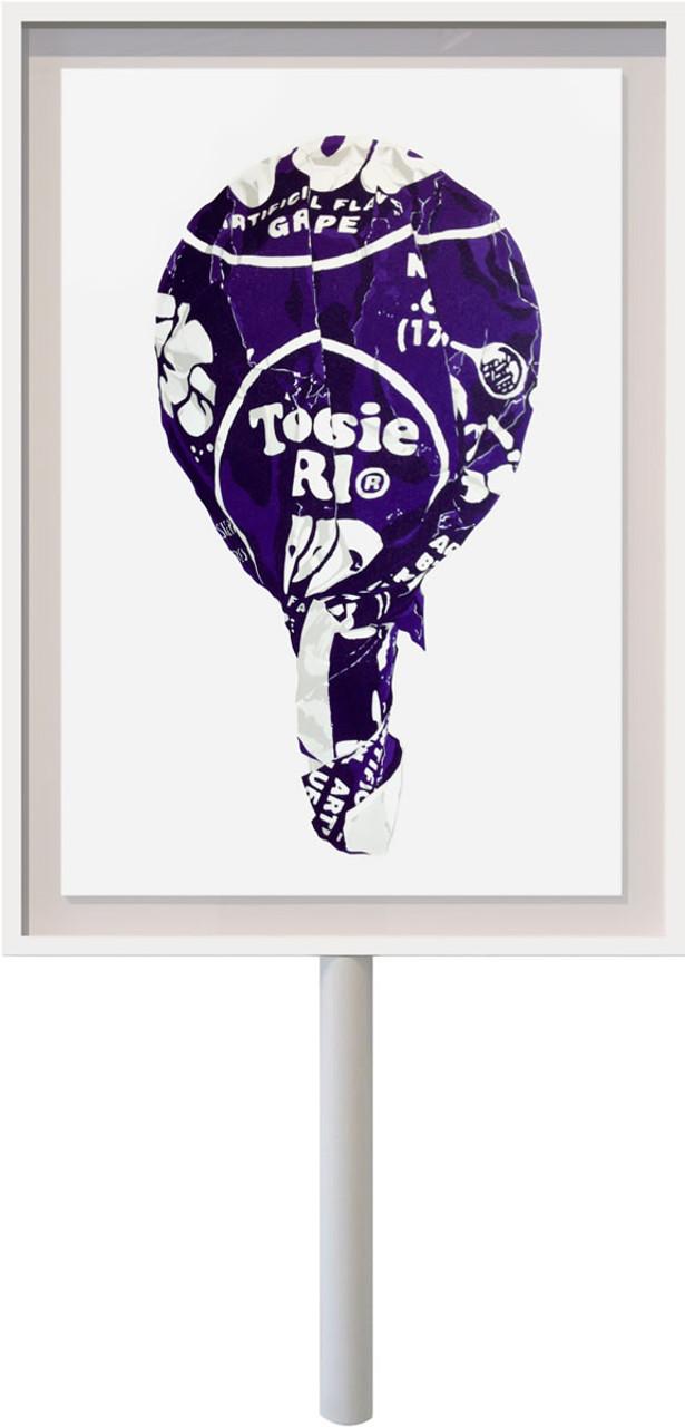 Tootsie on a Stick (Large Grape)